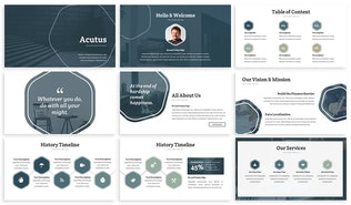 Thumbnail for Acutus - Hexagon Google Slides Template