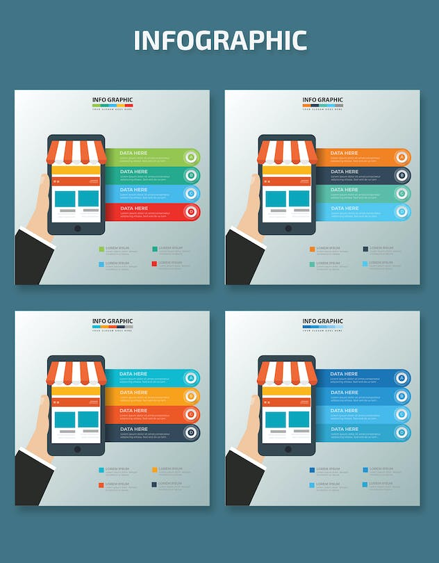 Mobile Shopping Infographics - product preview 1