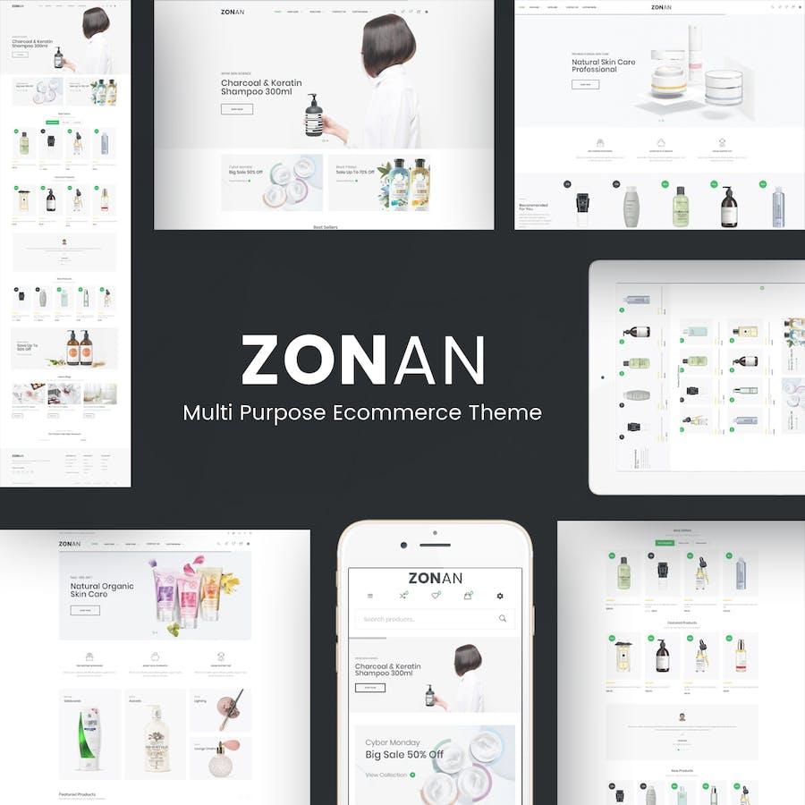 Zonan - Health & Beauty Prestashop Theme - product preview 1