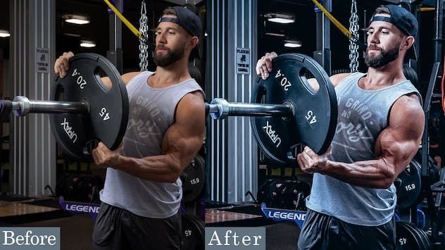11 HDR Fitness Photoshop Actions
