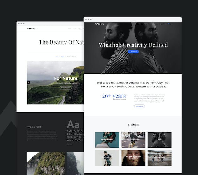Warhol - Creative Multipurpose HTML Template - product preview 1