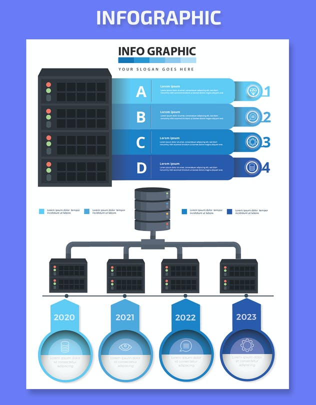 Database Infographics Elements - product preview 1