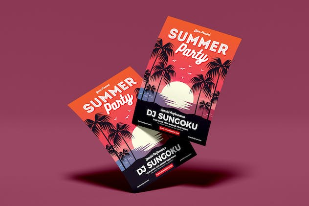 Summer Party Flyer Template Vol. 01 - product preview 2
