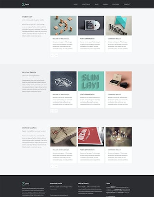 Thumbnail for Zonya - Multipurpose Responsive Site Template