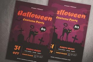 Halloween Costume Party Flyer