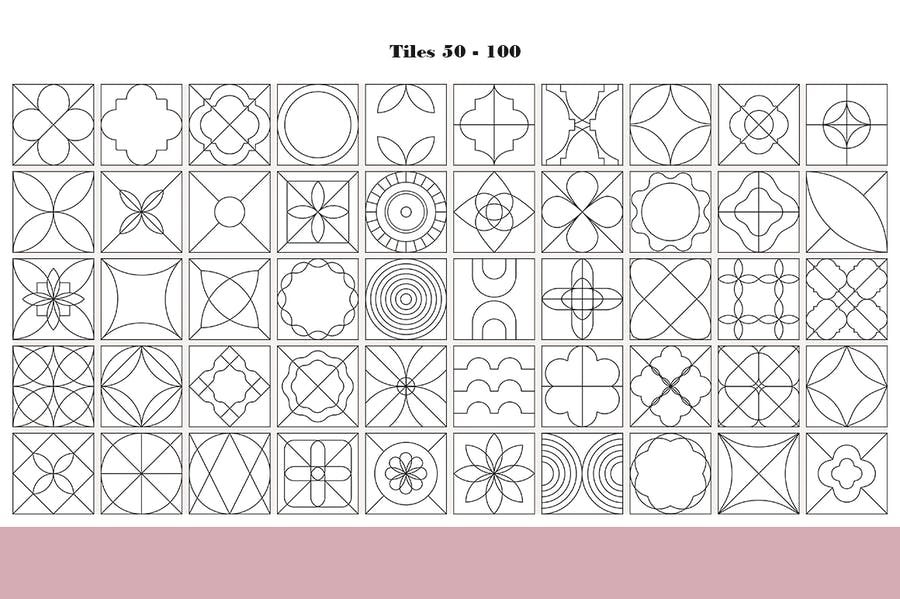 100 Tiles Patterns - product preview 9