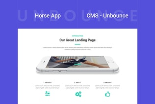 Thumbnail for Horse App - Unbounce Landing Page