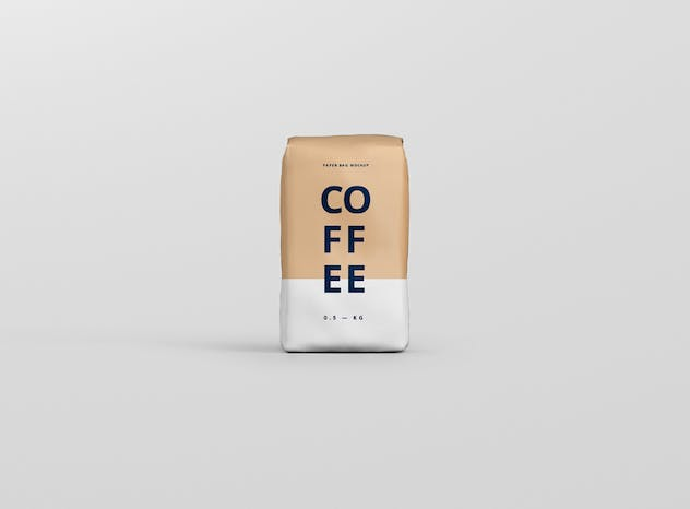 Coffee Paper Bag Mockup - product preview 4