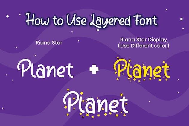 Riana Star - Display Font