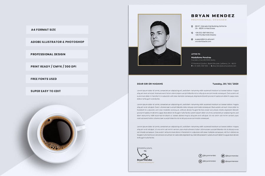 Minimalist CV Resume Vol.42 - product preview 3