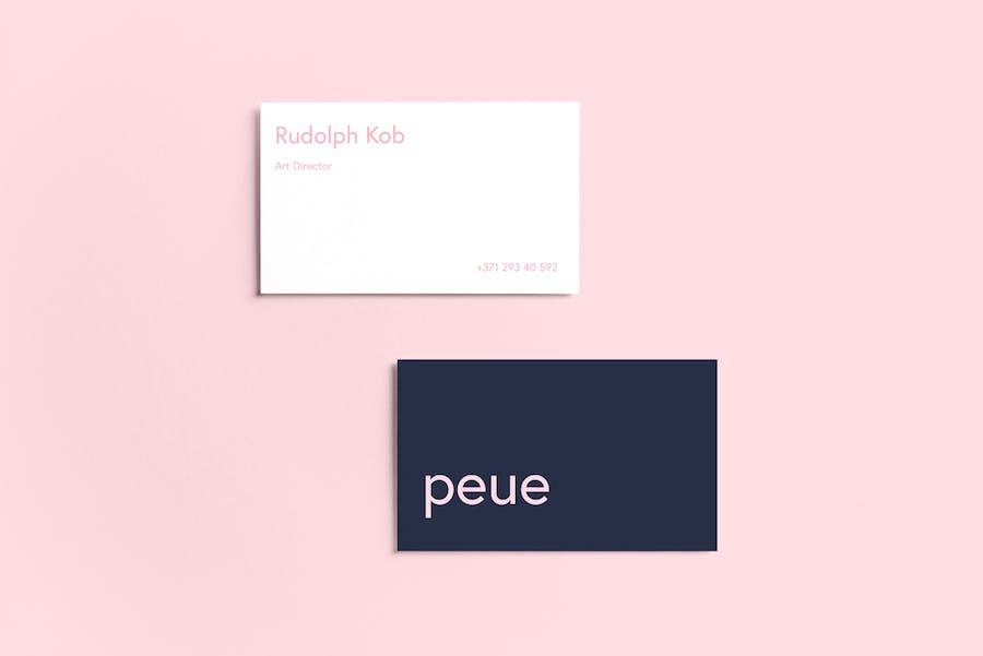 Preview image 7 for Peue - Реалистичный макап для визитных карточек