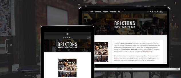Brixton - A Responsive WordPress Blog Theme - product preview 2