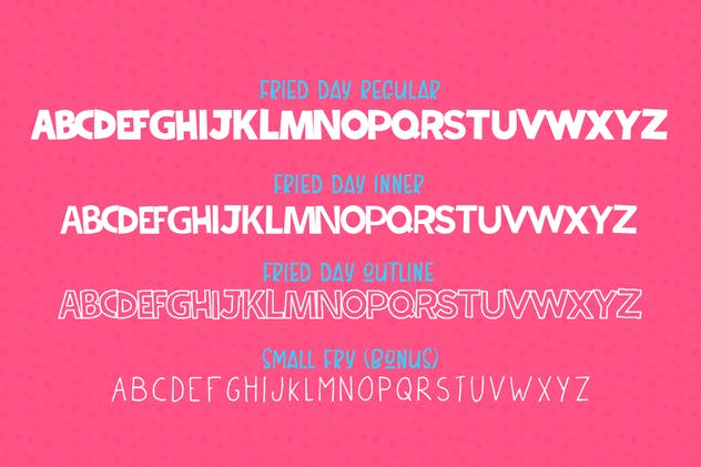Fried Day Font - product preview 6