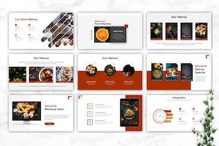 Thumbnail for MOCAINE - Restaurant & Food Google Slides Template