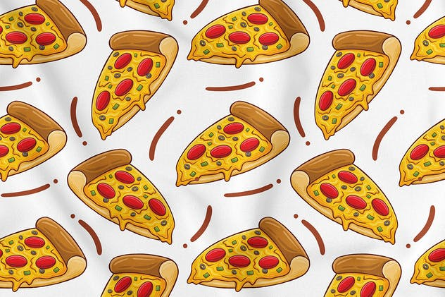 Pizza Seamless Pattern - product preview 0