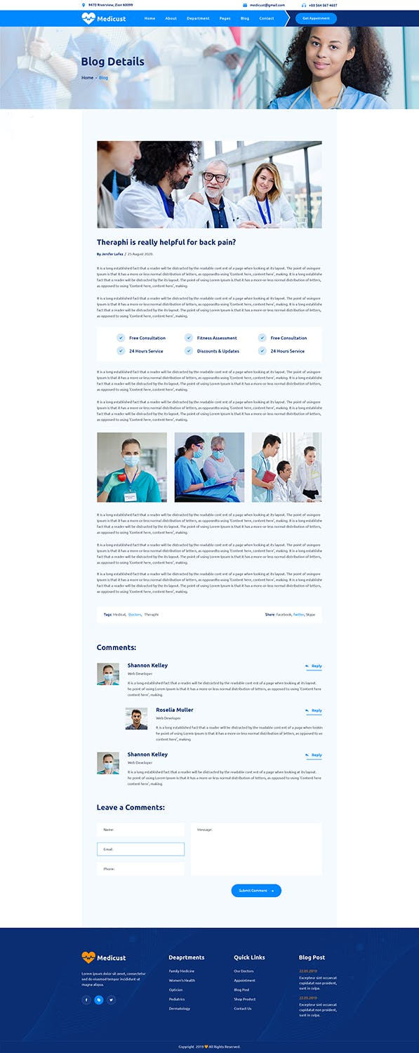Medicust - Health and Medical HTML5 Template - product preview 2