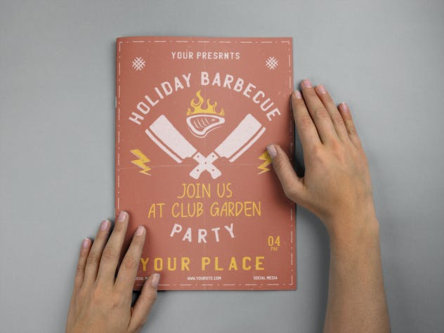 Barbecue Garden Party Flyer. Summer BBQ Brochure - product preview 1