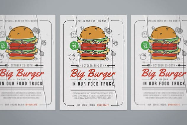 Burger Flyer - product preview 3