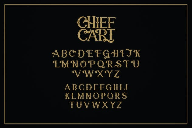 Chief Cart Vintage Typeface - product preview 7