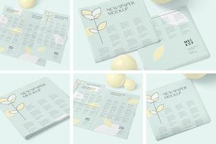 5 Tabloid Size Newspaper Mockups