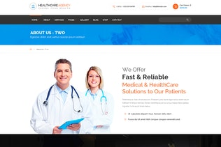 Thumbnail for Healthcare Agency - Health & Medical HTML