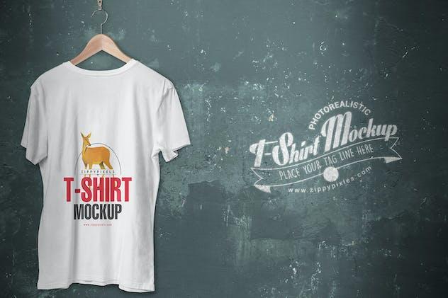 5 Trendy V-Neck T-Shirt Mockups - product preview 2