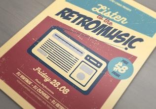 Thumbnail for Listen to the RetroMusic Flyer/Poster