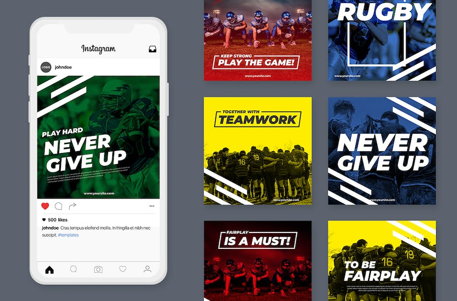 Social Media Kit American Football - product preview 1