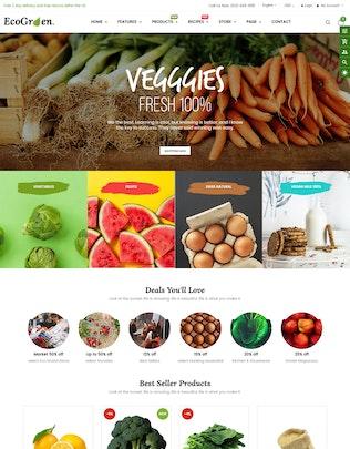 Thumbnail for EcoGreen - Organic, Fruit, Vegetable Shopify Theme