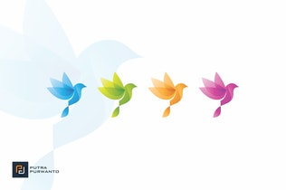 Thumbnail für Abstrakt Vogel - Logovorlage