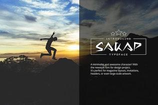 Thumbnail for Sakap Typeface Font