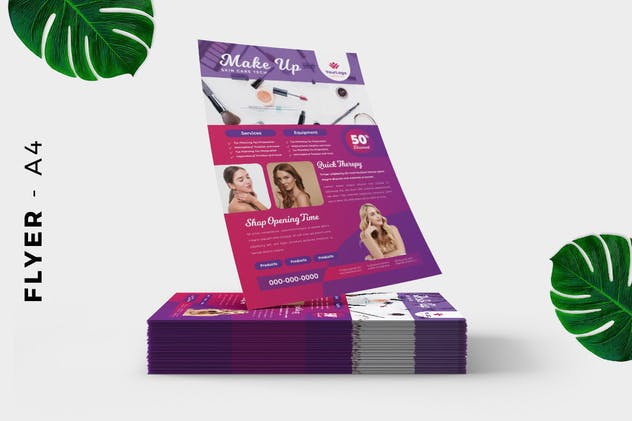 Make up / Skin care Flyer - product preview 2