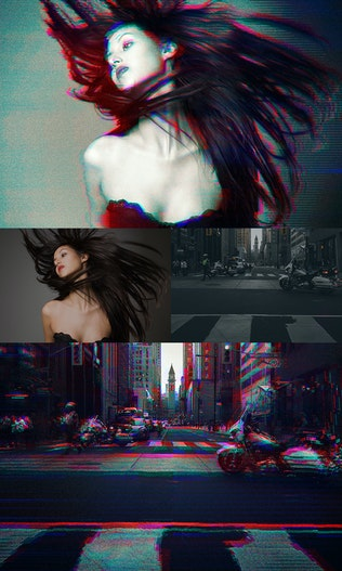 Thumbnail for Glitch Photoshop Action