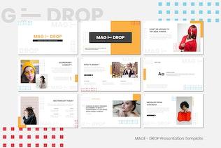 Миниатюра для MAGE DROP - Google Слайды и Шаблон Instagram