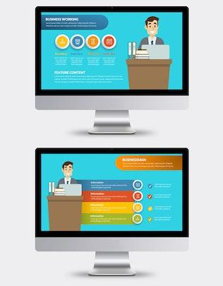 Thumbnail for Businessman Keynote Presentation