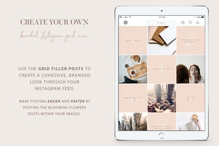 Thumbnail for Instagram Floral grid filler Posts