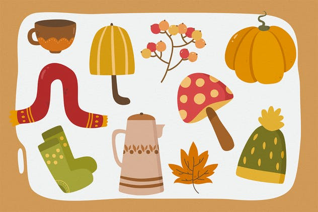 Falling Season Vector Clipart Pack - product preview 2