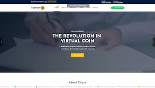 Thumbnail for Creptaam - Bitcoin, ICO Landing and Cryptocurrency