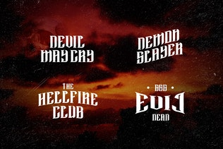 Miniatura para Satanic - Decorative Bold Display Typeface