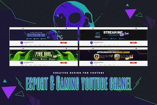 Thumbnail for eSport & Gaming Youtube Chanel PSD Template