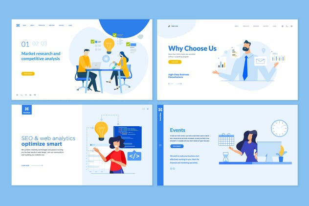 Set of Website Template Designs