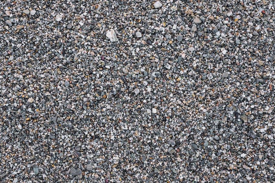 Set of 6 seamless gravel textures