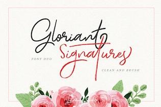 Guión de firma gloriante