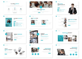 Миниатюра для Нуль - Шаблон Powerpoint для бизнеса