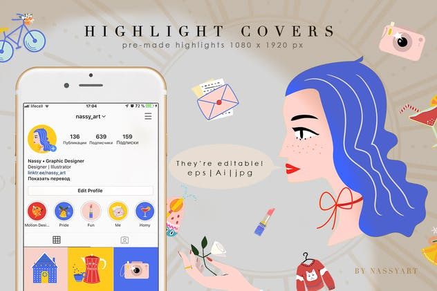 24 Cartoon Highlight Icon Set - product preview 3