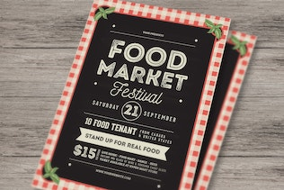 Thumbnail for Food Market Event Flyer