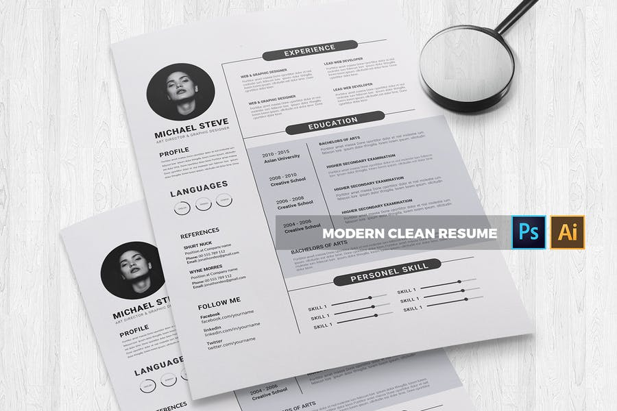 Modern | CV & Resume - product preview 1