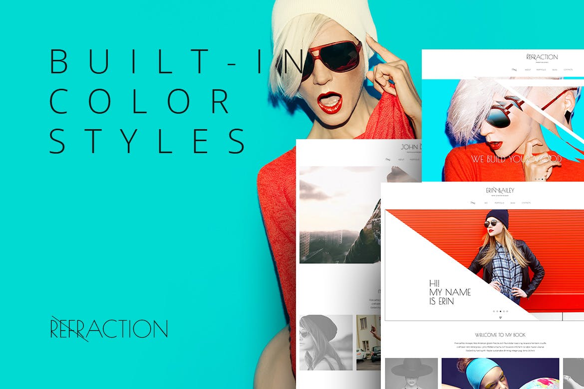 Refraction — Creative Agency and Blog Template