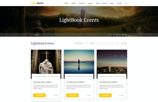 Thumbnail for LightBook - Church PSD Template