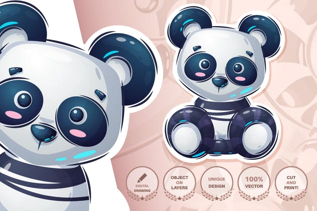 Teddy panda - product preview 1
